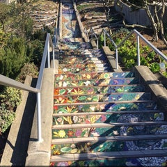 Photo taken at Hidden Garden Mosaic Steps by shahad k. on 11/26/2015