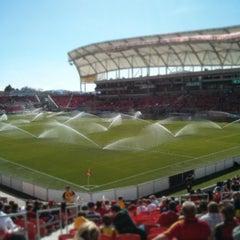 Photo taken at Rio Tinto Stadium by Nate B. on 3/17/2013