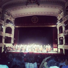 Photo taken at Teatro Municipal de Santiago by José C. on 11/4/2012