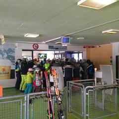 Photo taken at Gotschnabahn Talstation by Ya G. on 3/1/2013