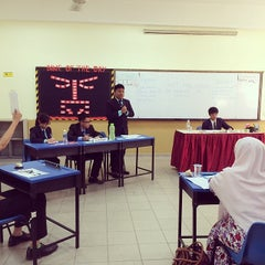 Photo taken at Sekolah Sultan Alam Shah (SAS) by Roslan T. on 3/7/2014