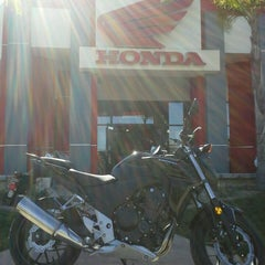 Photo taken at Huntington Beach Honda Motorcycles by Huntington H. on 4/17/2013