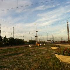 Photo taken at Rákosrendező vasútállomás by Katona Z. on 10/4/2012