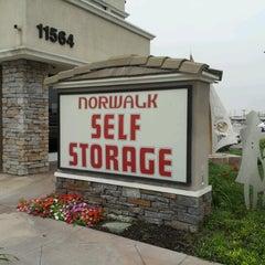 Photo taken at Norwalk Self Storage by Vivian C. on 12/5/2012
