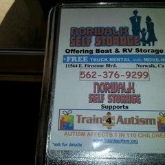 Photo taken at Norwalk Self Storage by Vivian C. on 10/25/2012