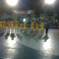 Photo taken at Gelora senapelan basket by lucia m. on 5/9/2013