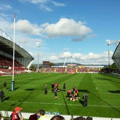 Photo taken at Thomond Park by Andrew F. on 10/21/2012