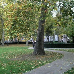 Photo taken at Grosvenor Square by Fabio S. on 11/2/2011