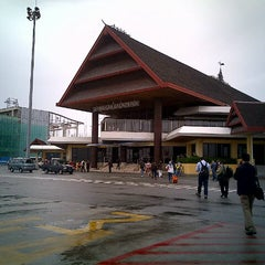 Photo taken at Sultan Aji Muhammad Sulaiman Sepinggan Balikpapan International Airport (BPN) by Meylia R. on 2/14/2013