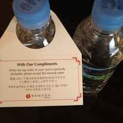 Photo taken at Ramada Seoul Hotel by Keitaro I. on 10/19/2012
