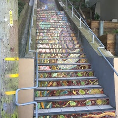 Photo taken at Hidden Garden Mosaic Steps by Leanne K. on 2/5/2016