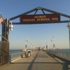 Photo taken at Belmont Veterans Memorial Pier by Ester Maria L. on 7/9/2013