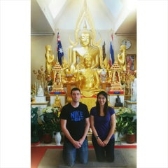 Photo taken at วัดพุทธรังษี by emily l. on 12/28/2014