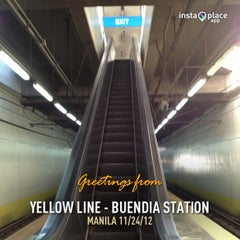 Photo taken at Yellow Line - Buendia Station by Dennis d. on 11/24/2012