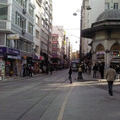 Photo taken at Sirkeci Tramvay Durağı by abdullah t. on 11/18/2012