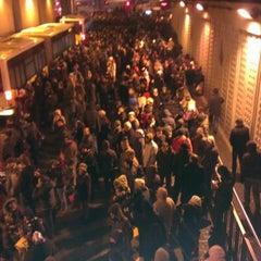 Photo taken at Zincirlikuyu Metrobüs Durağı by Eren Ö. on 12/20/2012