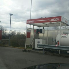 Photo taken at Lukoil by Aivars R. on 4/19/2015