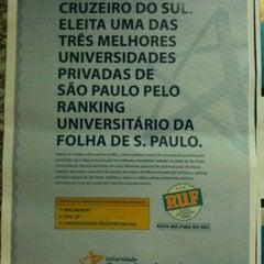Photo taken at Universidade Cruzeiro do Sul - Campus Pinheiros by Arllansp on 9/20/2012