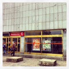 Photo taken at Metro =C= Nádraží Holešovice by Daniela J. on 5/11/2013