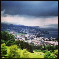 Photo taken at Panorama Resort Feusisberg by Daria Z. on 5/26/2013