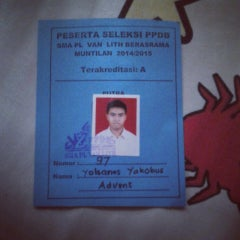 Photo taken at SMA Pangudi Luhur Van Lith by Yohanes A. on 1/23/2014