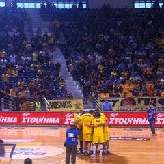 Photo taken at Αλεξάνδρειο Μέλαθρον (Palais des Sports) by Christos on 10/15/2012