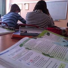 Photo taken at Школа №2016 by Aleksandra K. on 3/18/2013