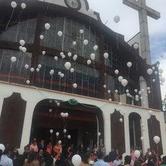 Photo taken at San Pedro Atocpan by Oscar G. on 5/9/2015