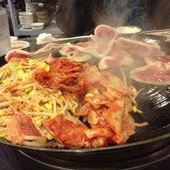 Photo taken at Honey Pig Gooldaegee Korean Grill by Cookdrinkfeast on 3/11/2013