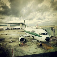 "Photo taken at Aeroporto Roma Fiumicino ""Leonardo da Vinci"" (FCO) by Mishkaaaa on 11/17/2013"