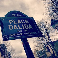 Photo taken at Place Dalida by Christophe on 4/27/2013