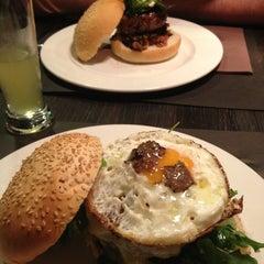 Photo taken at Stanford Gourmet Burger by Sandra M. on 4/19/2013