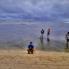 Photo taken at Pantai Ujung Genteng by Devit I. on 11/23/2012