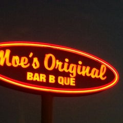 Photo taken at Moe's BBQ by Brian M. on 9/21/2012