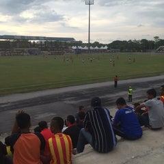 Photo taken at Stadium Sungai Besar by MOFASAD on 11/20/2015