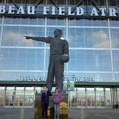 Photo taken at Lambeau Field by Julie F. on 11/25/2012