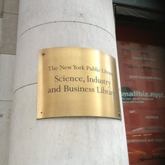 Photo taken at New York Public Library - Science, Industry and Business Library (SIBL) by Holiday on 3/6/2013