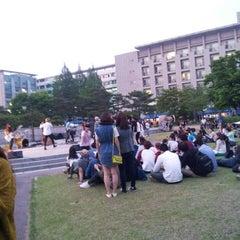 Photo taken at 건국대학교 (Konkuk University) by Jen S. on 5/14/2013