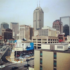 Photo taken at Bankers Life Fieldhouse Parking Garage by Aaron on 12/19/2012
