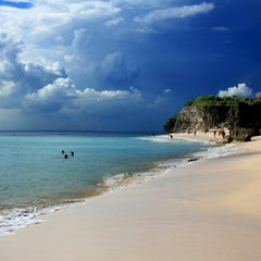 Photo taken at Balangan Beach by Luke W. on 1/12/2013