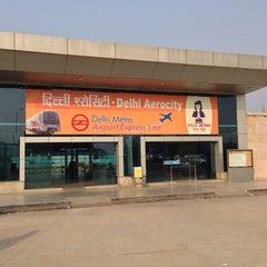 Photo taken at Delhi Aerocity Metro Station by Manas M. on 1/7/2014