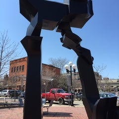 Photo taken at Sculpture Plaza by Michael G. on 4/24/2015