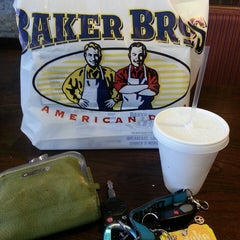 Photo taken at Baker Bros American Deli by Denise T. on 4/24/2014