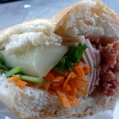 Photo taken at Saigon Vietnamese Sandwich Deli by Crystal C. on 10/21/2012
