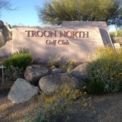 Photo taken at Troon North Golf Club by Becca @GritsGal on 4/15/2013