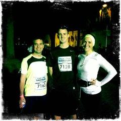 Photo taken at Rock n Roll Savannah Marathon Finish by Lisa C. on 11/3/2012
