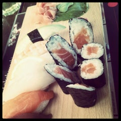 Photo taken at Bambuszliget Japán Étterem & Sushi Bár by Edina G. on 7/4/2013