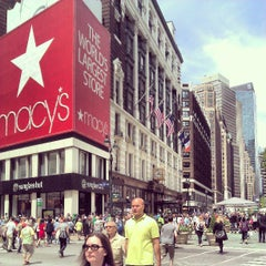 Photo taken at Herald Square by Keilon L. on 5/10/2013