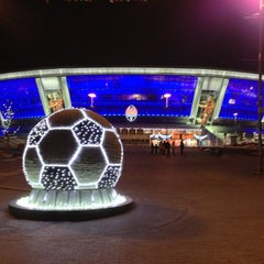 Photo taken at Donbass Arena / Донбасс Арена by Gennadiy T. on 12/30/2012