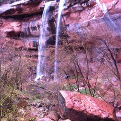 Photo taken at Emerald Pool Trail by Don M. on 11/23/2013